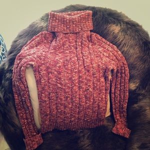 Pink multicolored sweater